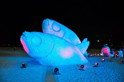 Giant Fish Sculptures Made From Plastic Bottles