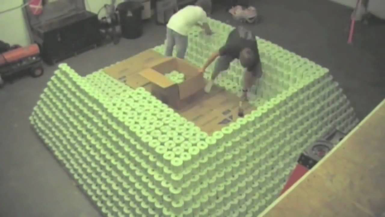 World's Largest Toilet Paper Pyramid