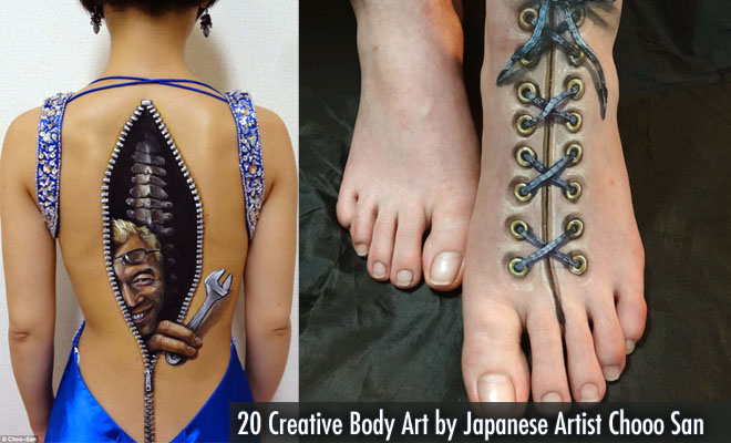 20 Creative Body Art By Japanese Artist Chooo San Illusion And Incredible World Of Arts