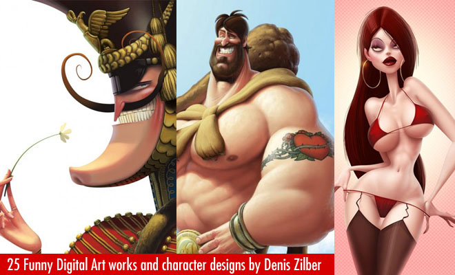 Funny Digital Art works and Character Designs by Denis Zilber