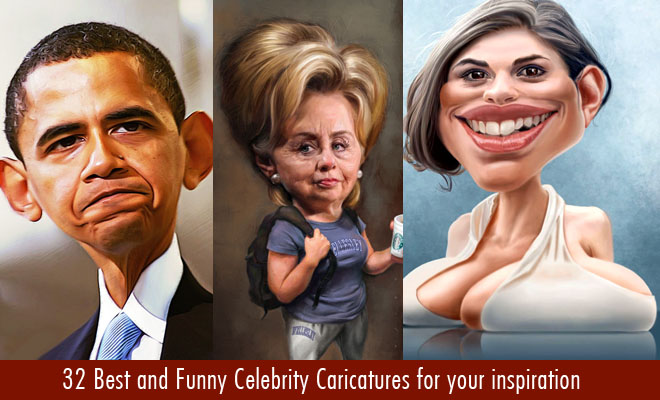 Funny Celebrity Caricatures for your inspiration