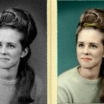 Coloring old, black and white photo