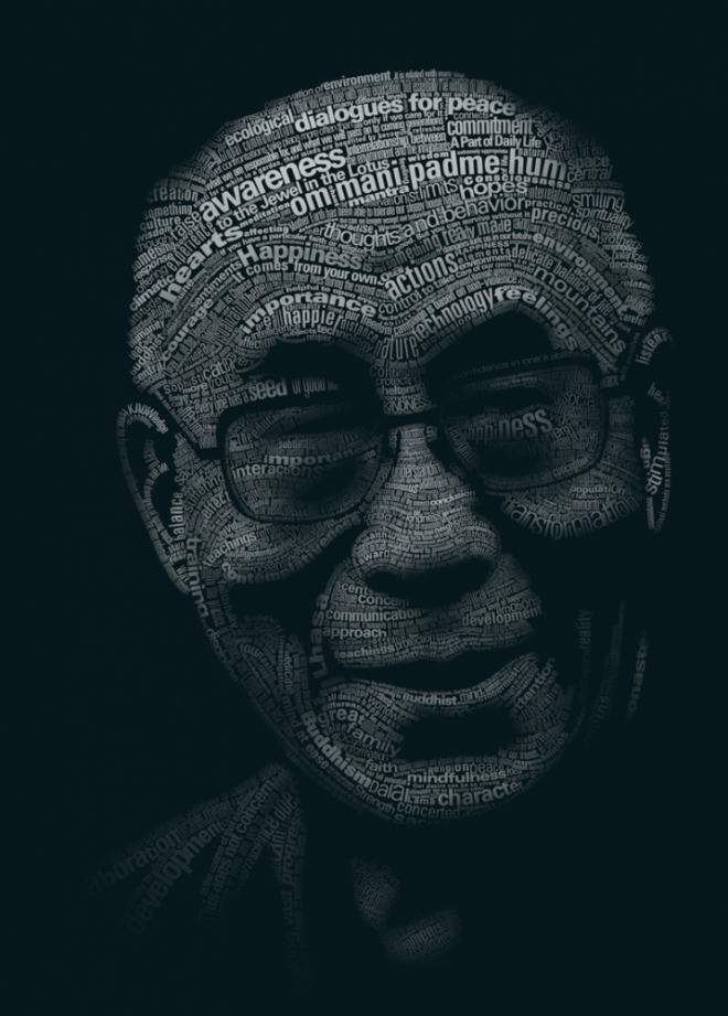 20 beautiful and creative typography portraits designs for Typography portrait