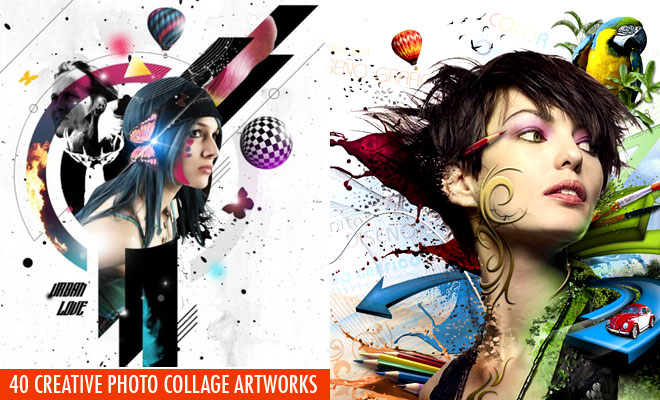 40 Creative Photo Collage Effects and Photoshop collage art works for your inspiration