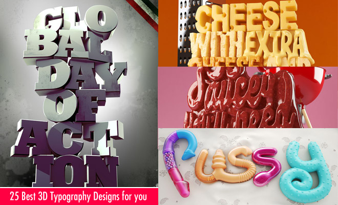 Graphic Design Typography 3d 25 Best 3d Typography Designs