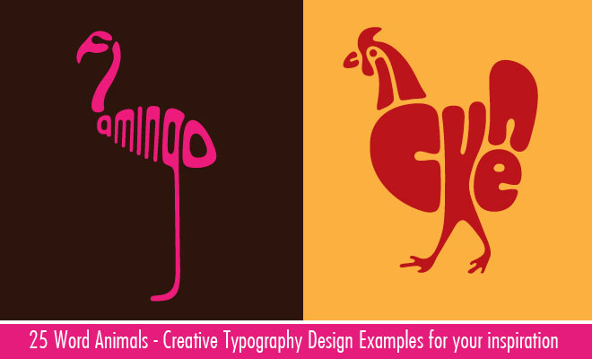 25 creative word animal typography designs by dan fleming world of arts