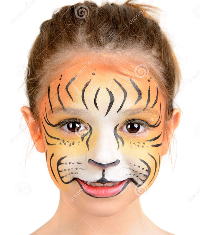 Easy Tiger Face Paint Kids