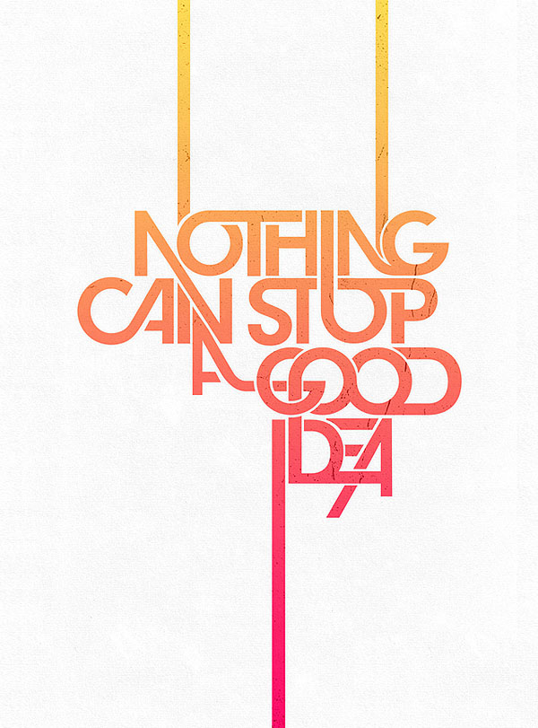 e7f1405c2 40 Creative Typography Posters Design examples for your inspiration ...