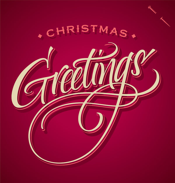 Creative christmas typography designs for your greeting