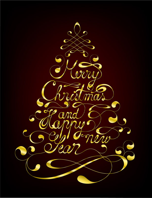 30 creative christmas typography designs for your greeting cards christmas greeting cards m4hsunfo