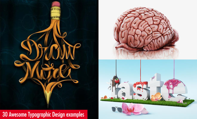 30 Awesome and Creative Typographic Designs and Posters