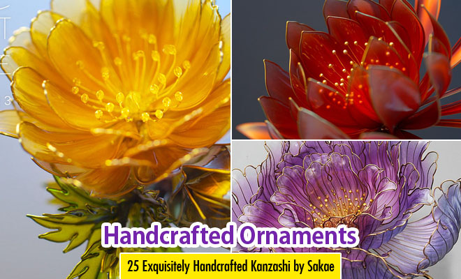 25 Exquisitely Handcrafted Floral Ornaments Kanzashi By