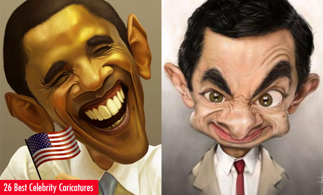 26 Best and Beautiful Celebrity Caricatures for your inspiration