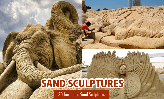 30 Incredible and Beautiful Sand Sculptures for your inspiration