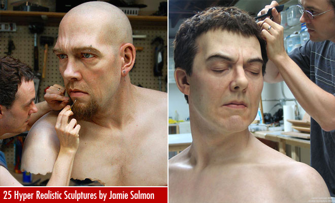 25 Hyper Realistic Silicone Portrait Sculptures by Jamie Salmon