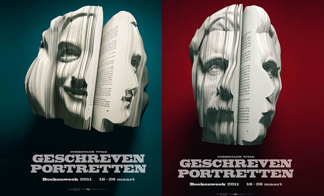 Amazing Book Sculptures – by cutting papers