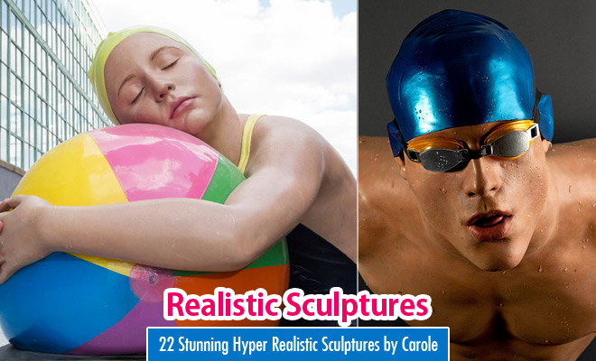 22 Stunning Hyper Realistic Sculptures by Carole Feuerman – World Famous Sculptor