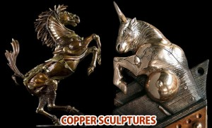 Copper sculptures