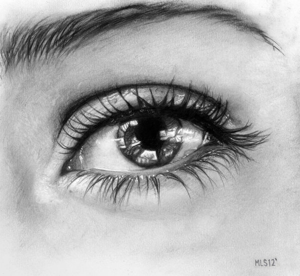 40 Beautiful And Realistic Pencil Drawings Of Eyes World