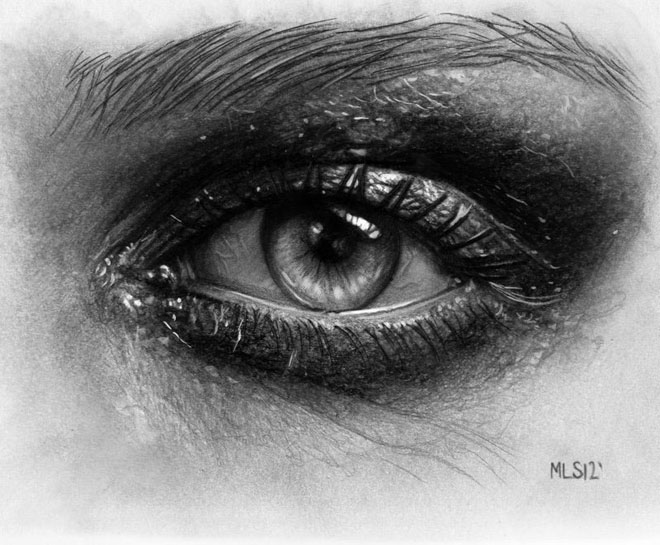 40 Beautiful and Realistic Pencil Drawings of Eyes – World ...