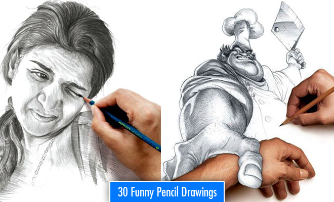 Funny Drawings – 30 Most Funniest Pencil Drawings and Art works