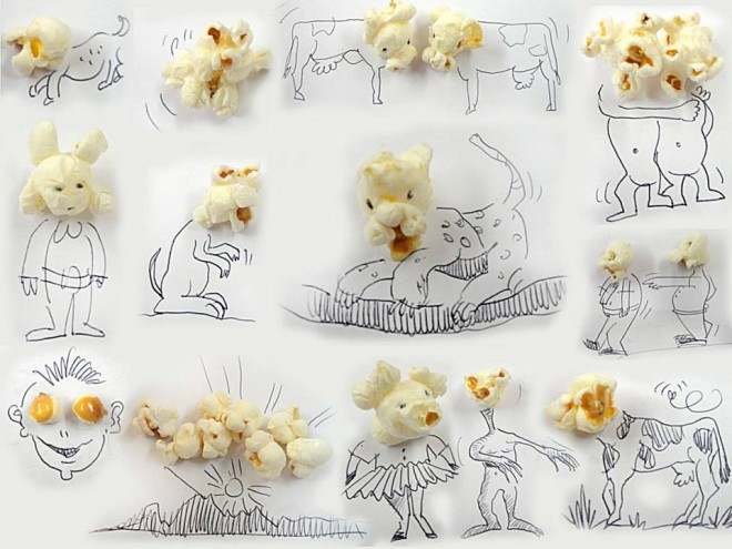 25 creative and funny art everyday objects into