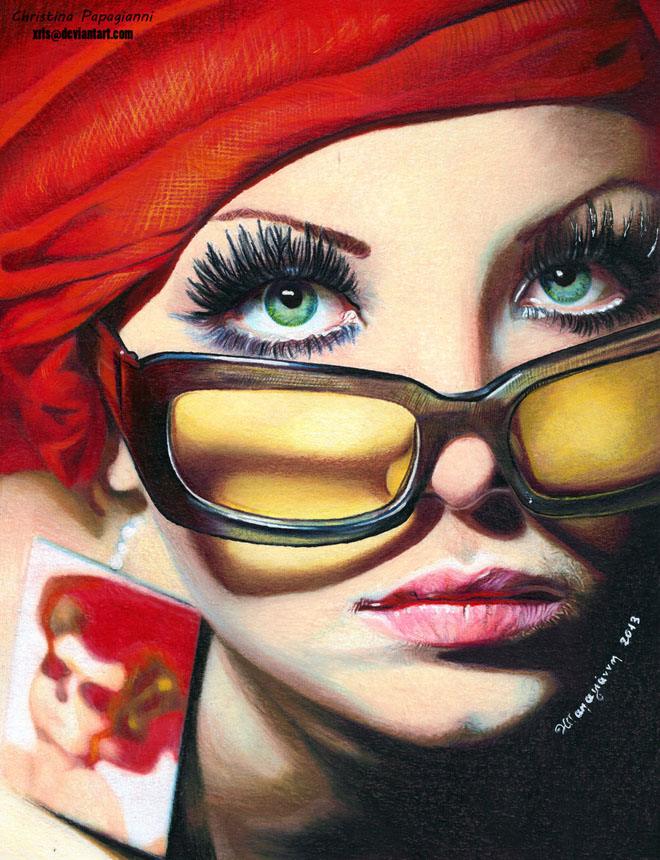 25 hyper realistic color pencil drawings by christina papagianni