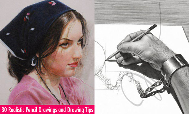 30 Realistic Pencil Drawings And Drawing Tips For Beginners World