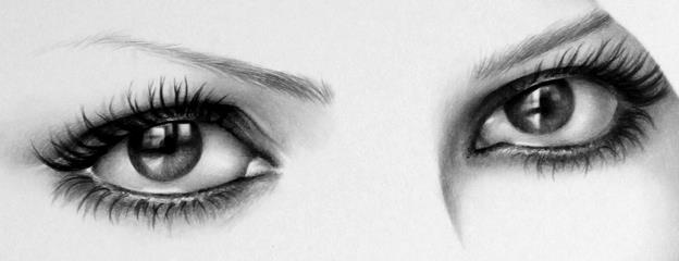 how to draw a realistic eye crying and lookingup