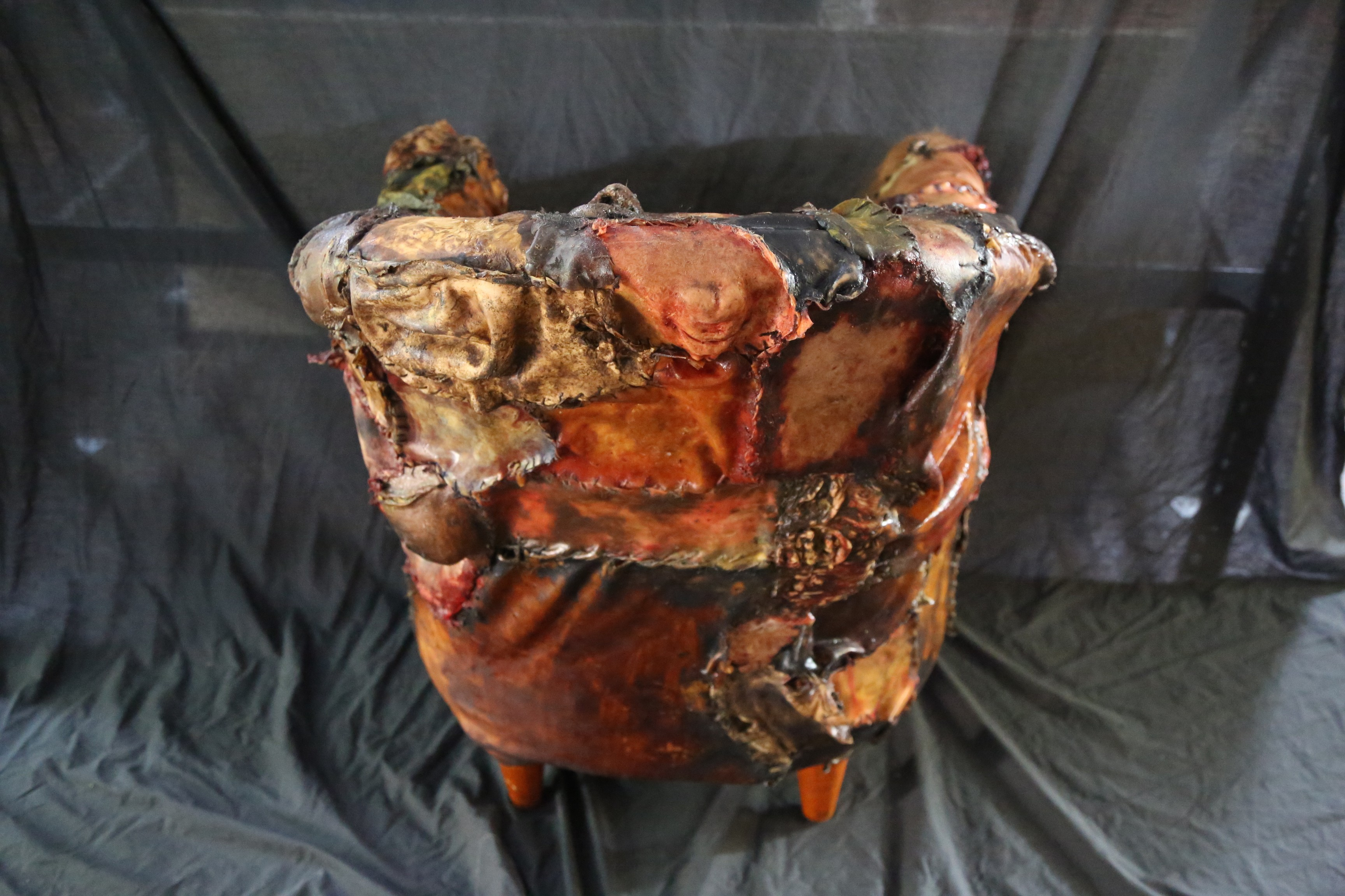 Ed Gein Lounge Human Skin Chair