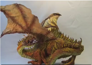 sculpting dragon