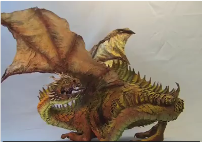 Amazing paper sculpture by local artist