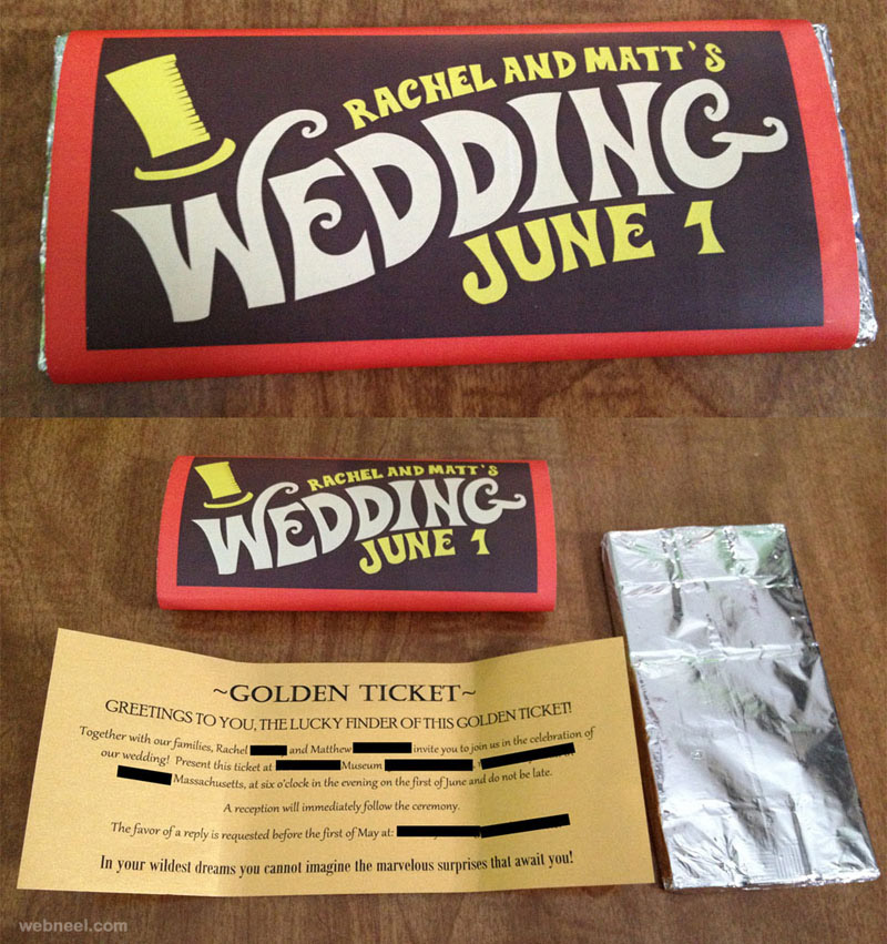 25 Creative and unusual Wedding Invitation Card Design Ideas World