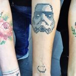 Cross-Stitch styled Tattoo