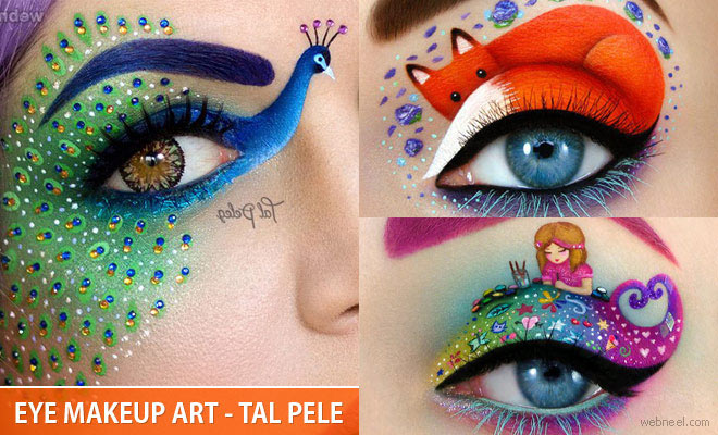 20 Beautiful and Creative Eye Makeup Ideas and art works by Tal Pele