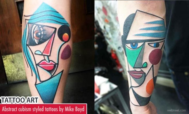 abstract cubism styled Tattoos