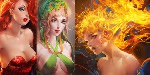 Beautiful and Colorful Digital Art works by Sakimichan