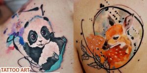 Aleksandra Katsans Exquisite watercolor styled Tattoo Art ideas