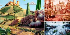 Foodscapes - Compositing intricate landscapes by Carl Warner